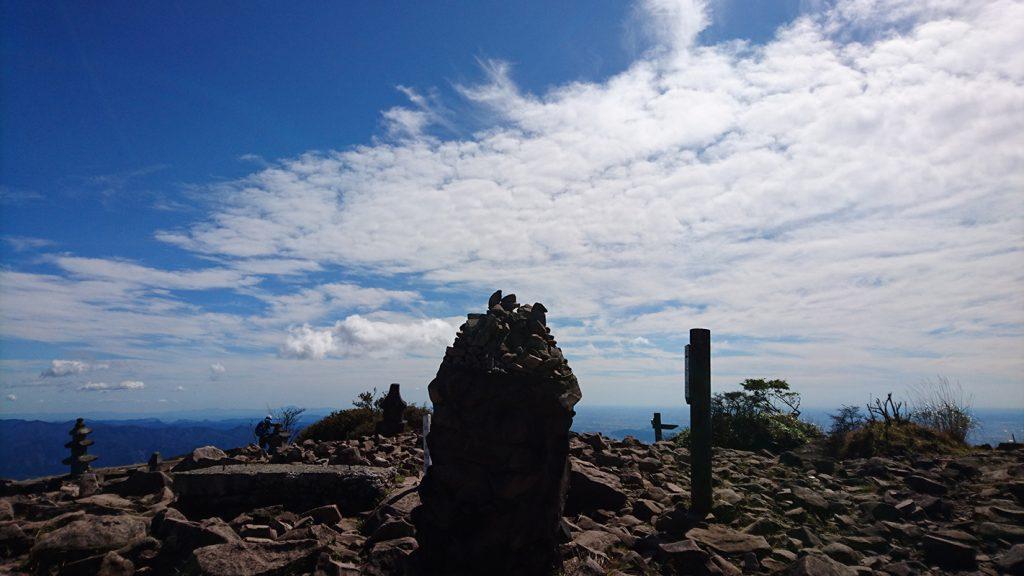 地蔵岳山頂風景